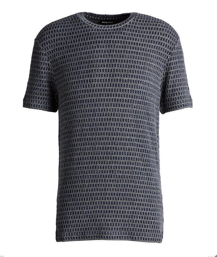 Jacquard Stretch-Viscose T-Shirt image 0