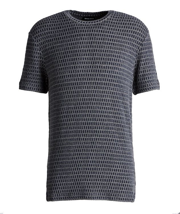 Jacquard Stretch-Viscose T-Shirt picture 1
