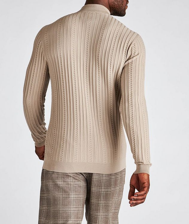 Wool-Blend Mock Neck Sweater picture 3