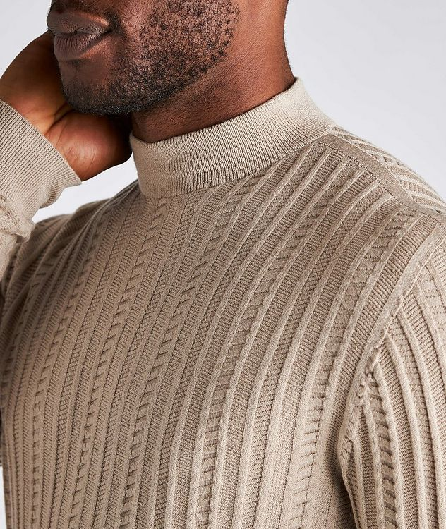 Wool-Blend Mock Neck Sweater picture 4