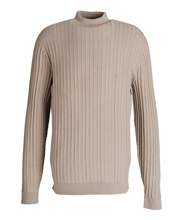 Wool-Blend Mock Neck Sweater picture 1