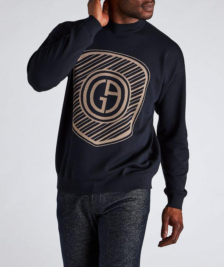 Jacquard Logo Cotton-Blend Sweater image 1