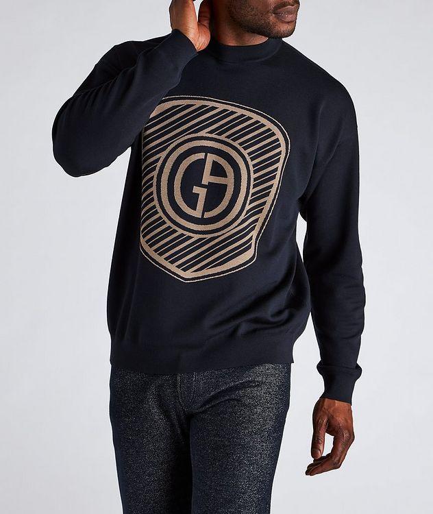 Jacquard Logo Cotton-Blend Sweater picture 2