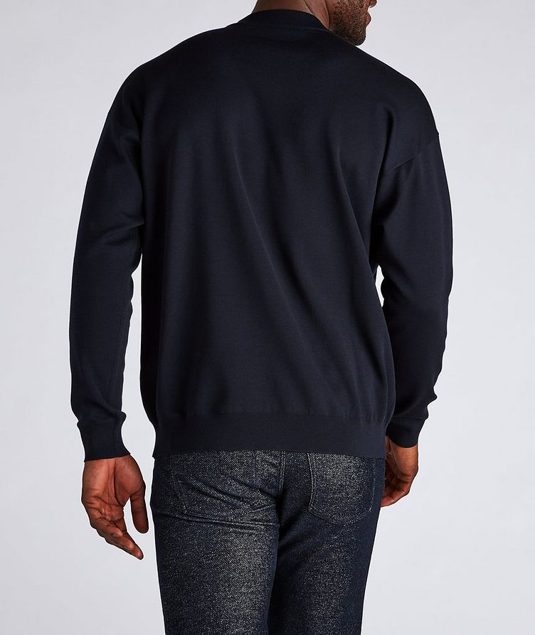 Jacquard Logo Cotton-Blend Sweater image 2