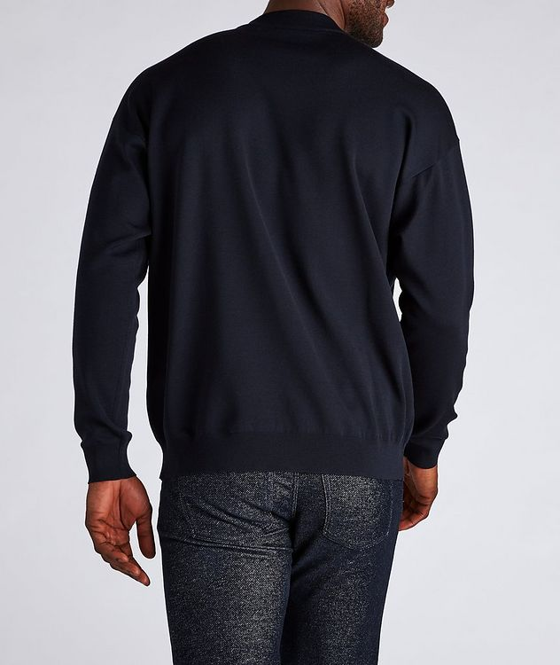 Jacquard Logo Cotton-Blend Sweater picture 3