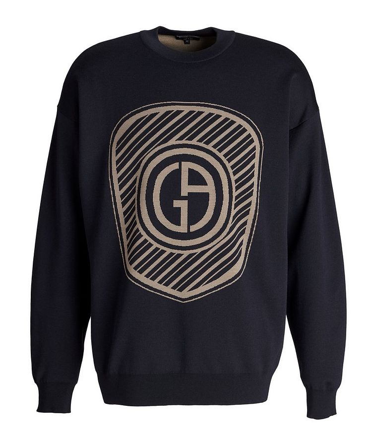 Jacquard Logo Cotton-Blend Sweater image 0