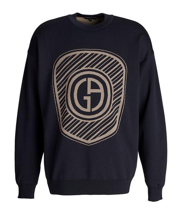 Jacquard Logo Cotton-Blend Sweater picture 1
