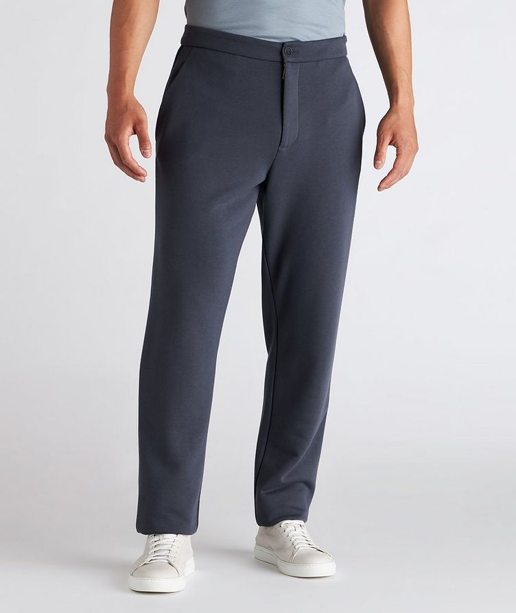 Cotton, Cashmere, and Silk Terry Trousers image 1