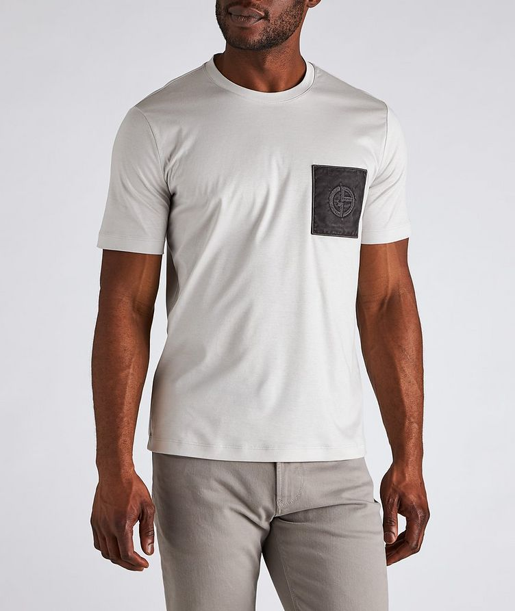 Logo Pocket Cotton T-Shirt image 1