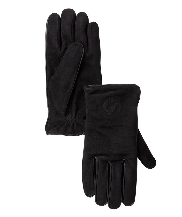 Nappa Suede & Cashmere Gloves image 0
