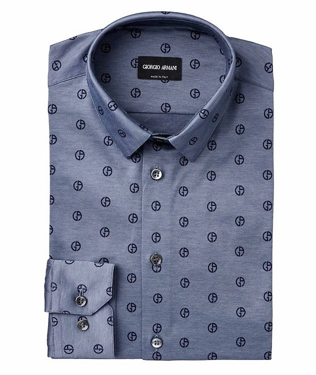 Logo Printed Cotton Sport Shirt picture 1