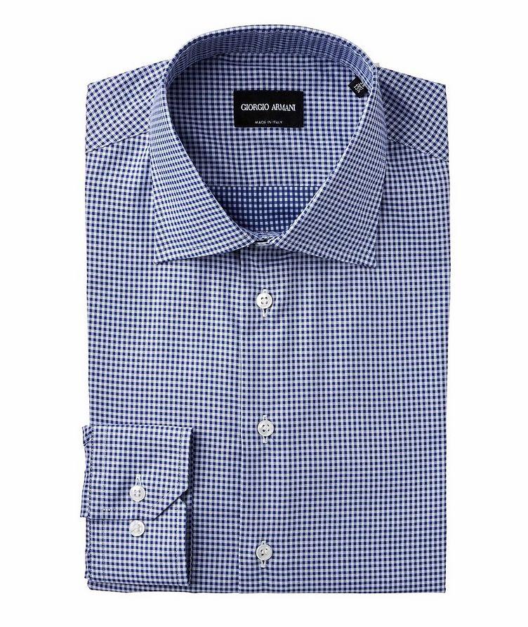 Slim Fit Checked Cotton Dress Shirt image 0