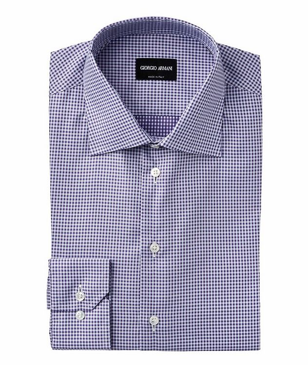 Slim Fit Checked Cotton Dress Shirt picture 1