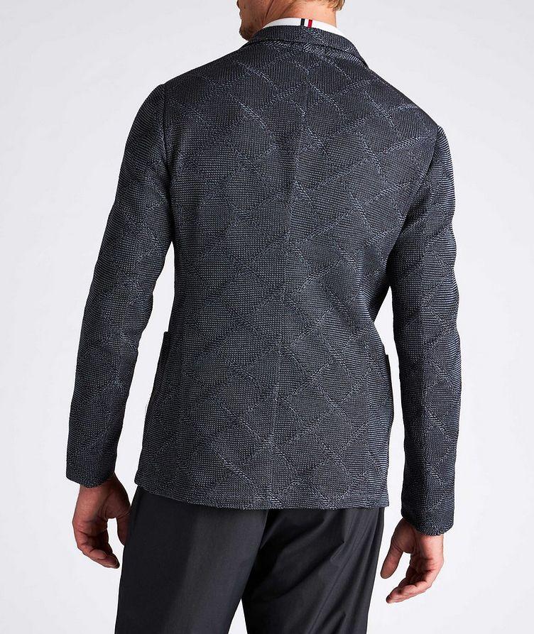 Diamond Jacquard Wool-Cotton Sports Jacket image 2