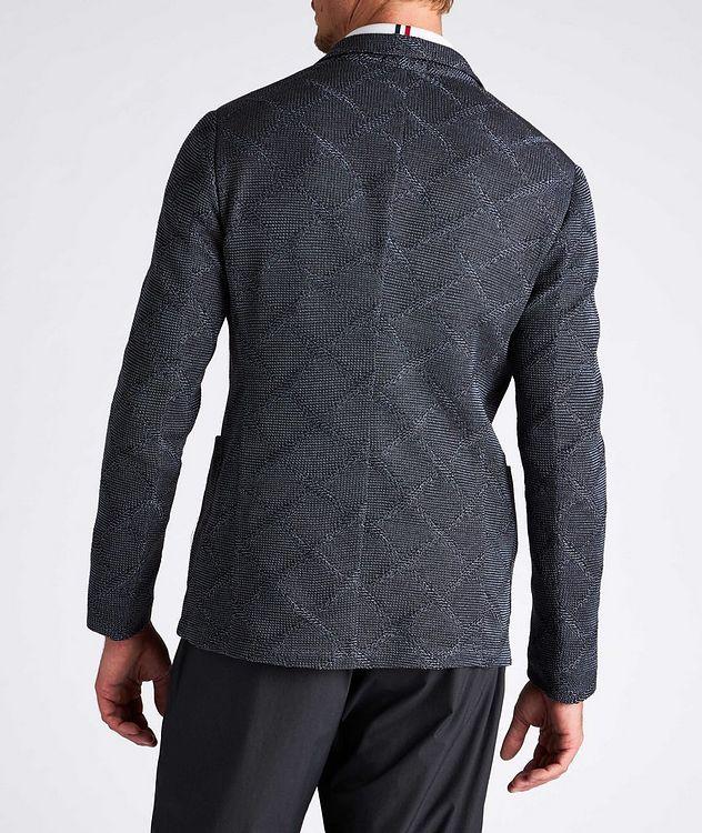 Diamond Jacquard Wool-Cotton Sports Jacket picture 3