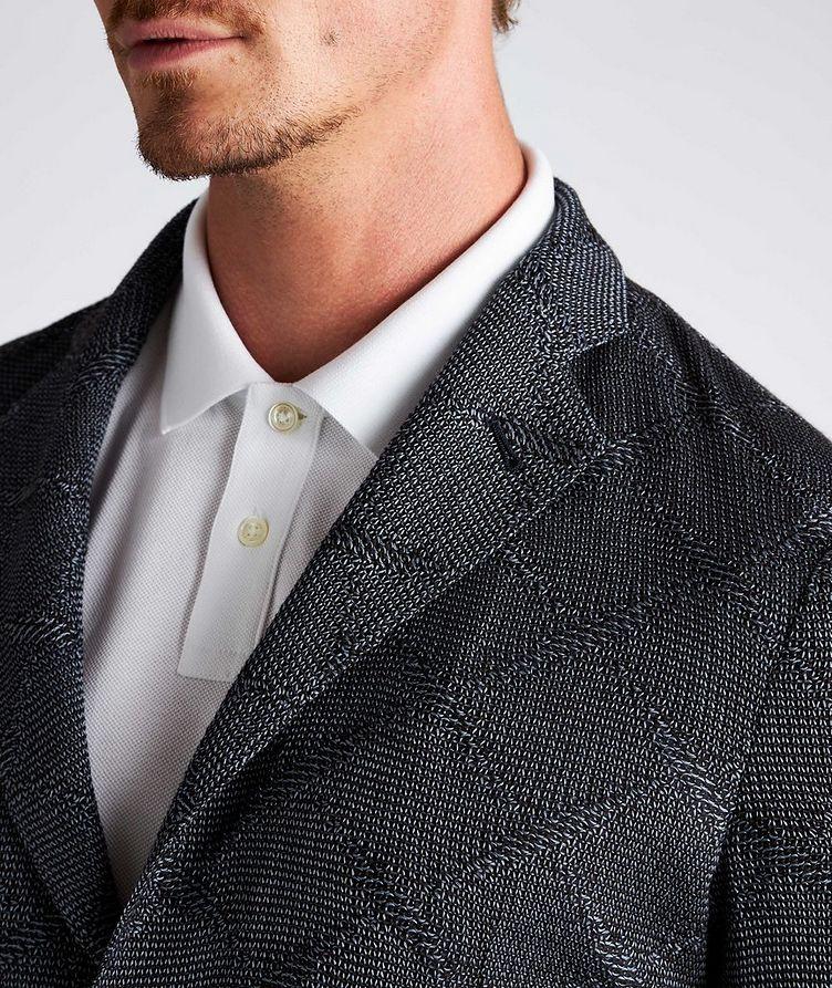 Diamond Jacquard Wool-Cotton Sports Jacket image 3