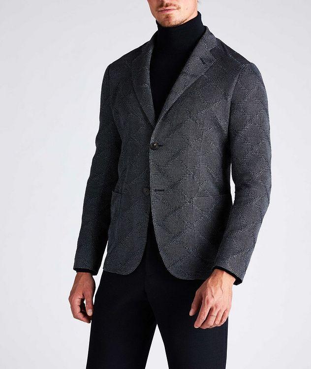 Diamond Jacquard Wool-Cotton Sports Jacket picture 5