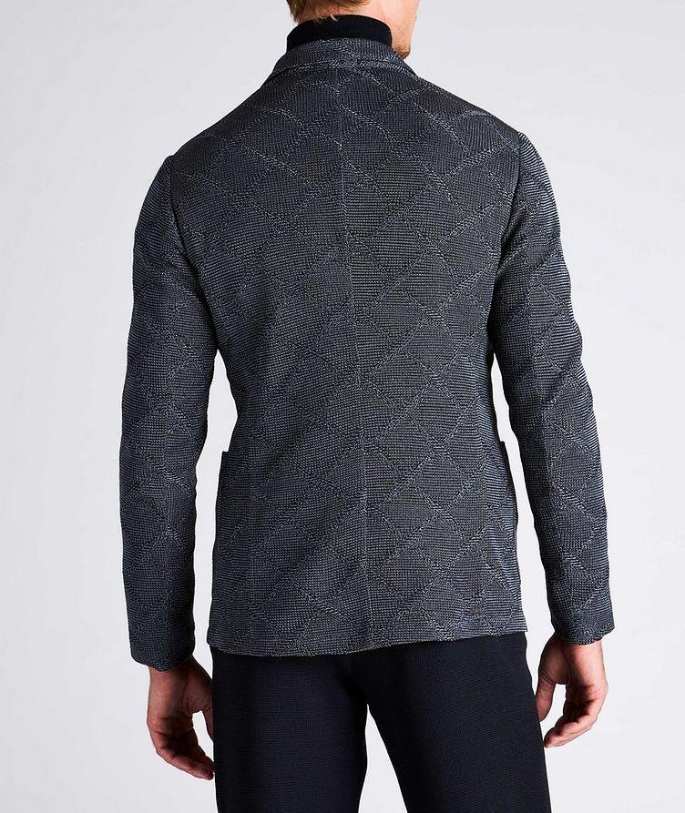 Diamond Jacquard Wool-Cotton Sports Jacket image 5