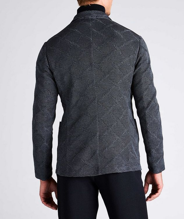 Diamond Jacquard Wool-Cotton Sports Jacket picture 6