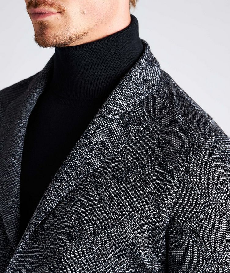 Diamond Jacquard Wool-Cotton Sports Jacket image 6
