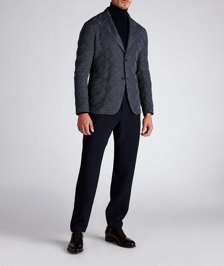 Diamond Jacquard Wool-Cotton Sports Jacket image 7