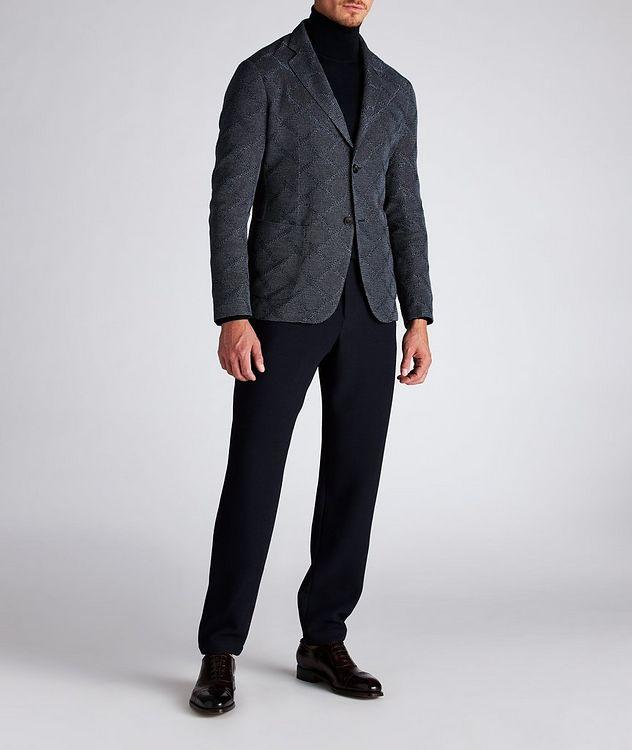 Diamond Jacquard Wool-Cotton Sports Jacket picture 8