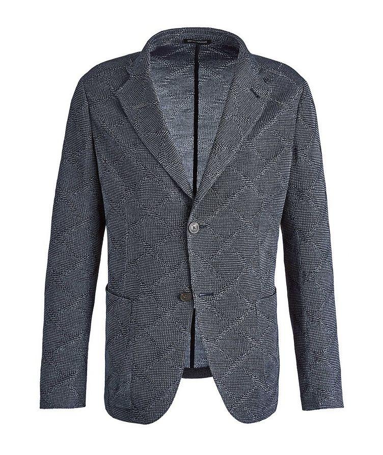 Diamond Jacquard Wool-Cotton Sports Jacket image 0