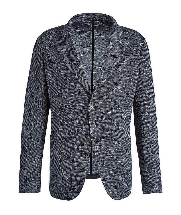 Diamond Jacquard Wool-Cotton Sports Jacket picture 1