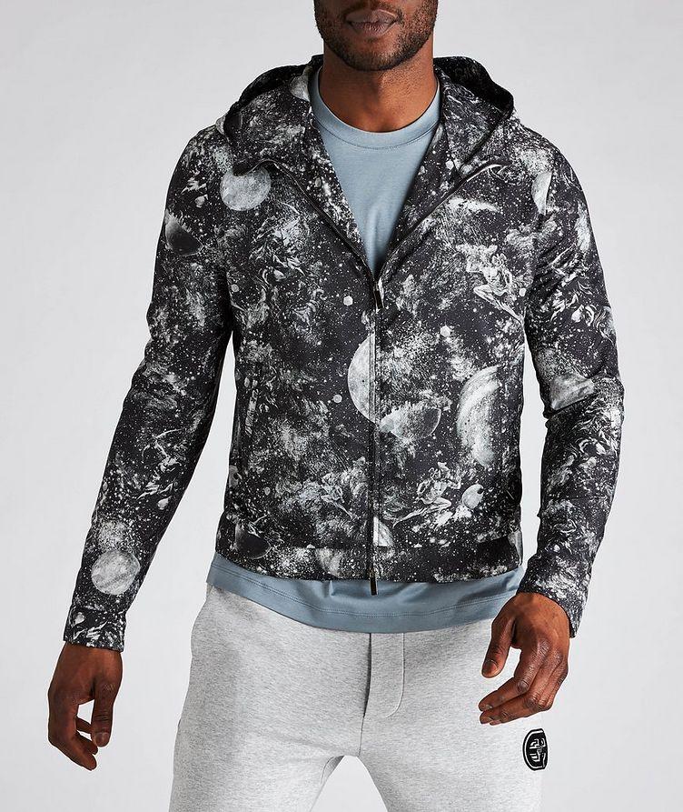 Surreal Print Hooded Blouson Jacket image 1