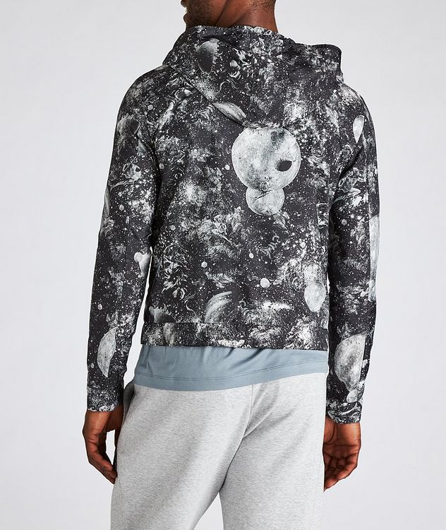 Surreal Print Hooded Blouson Jacket picture 3