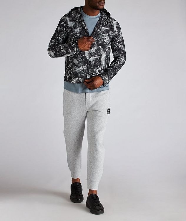 Surreal Print Hooded Blouson Jacket picture 4
