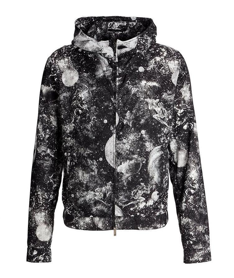 Surreal Print Hooded Blouson Jacket image 0
