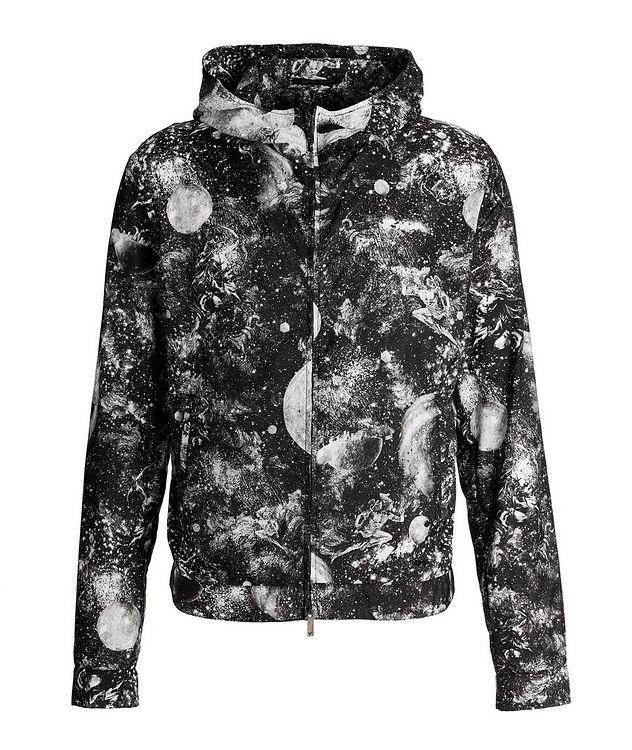 Surreal Print Hooded Blouson Jacket picture 1