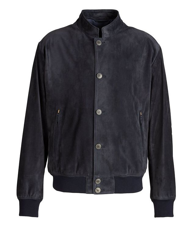 Calfskin Suede Blouson Jacket picture 1