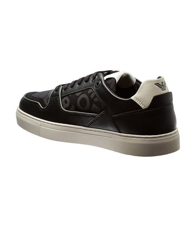 Monogrammed Multi-Texture Sneakers picture 2