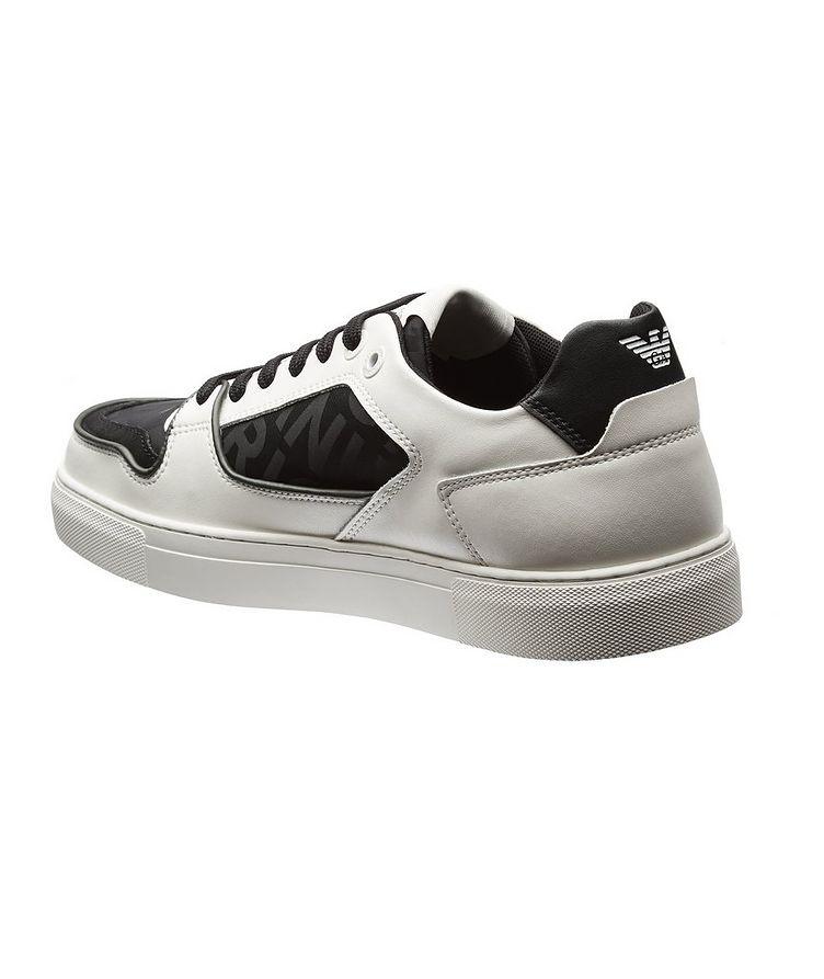 Monogrammed Multi-Texture Sneakers image 1