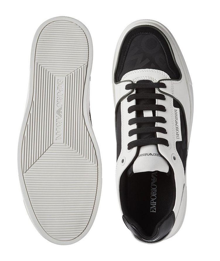Monogrammed Multi-Texture Sneakers image 2