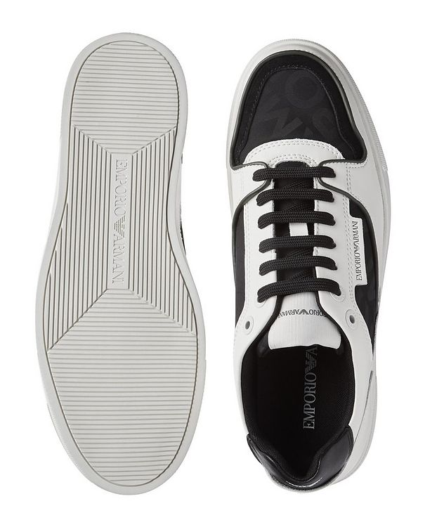 Monogrammed Multi-Texture Sneakers picture 3