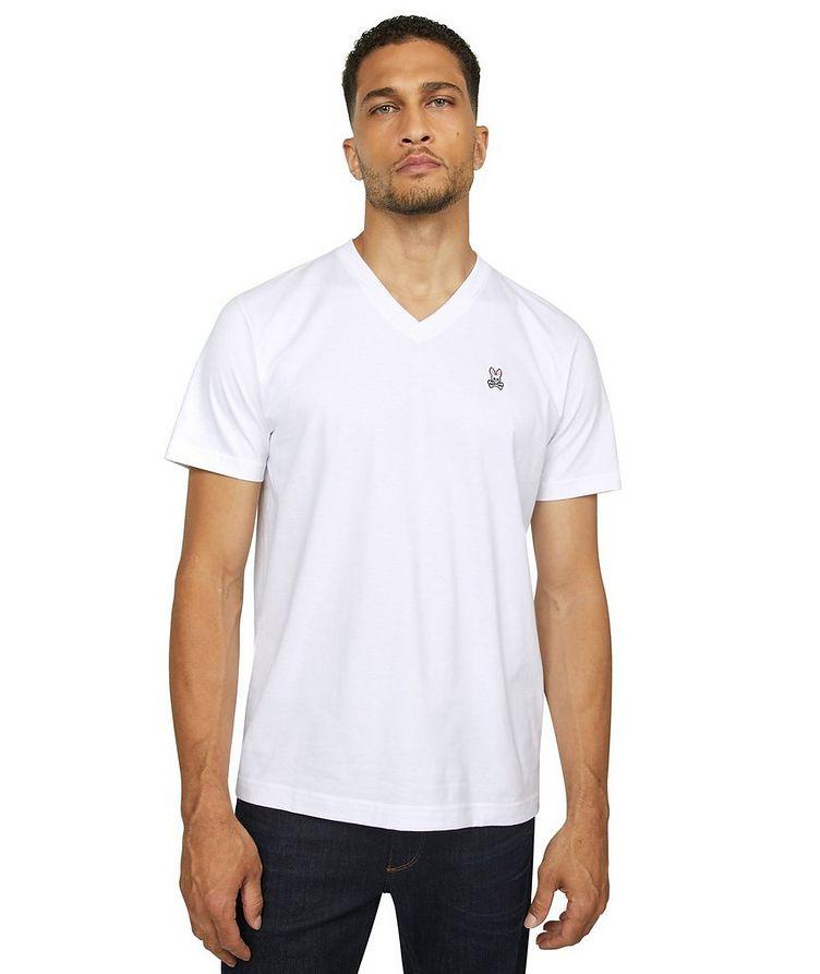 Logo Cotton V-Neck T-Shirt image 2