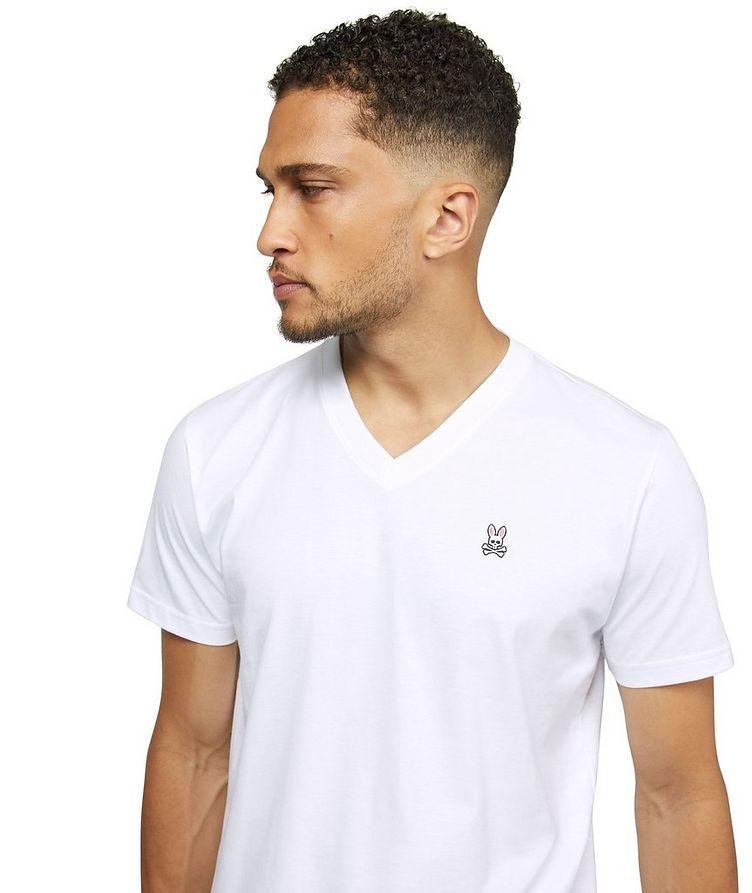 Logo Cotton V-Neck T-Shirt image 3