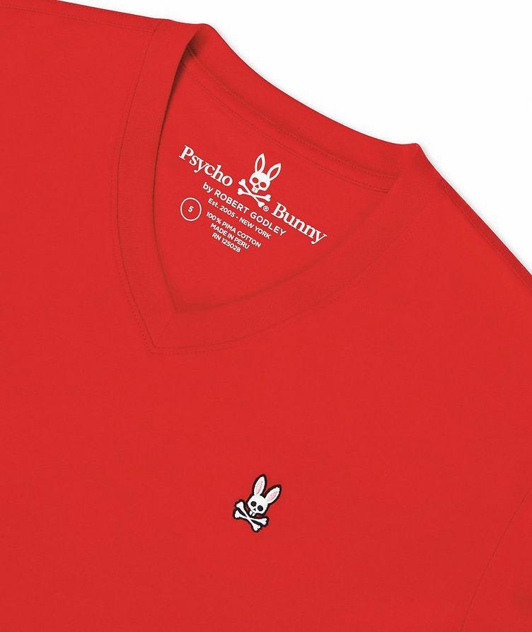 Logo Cotton V-Neck T-Shirt image 1