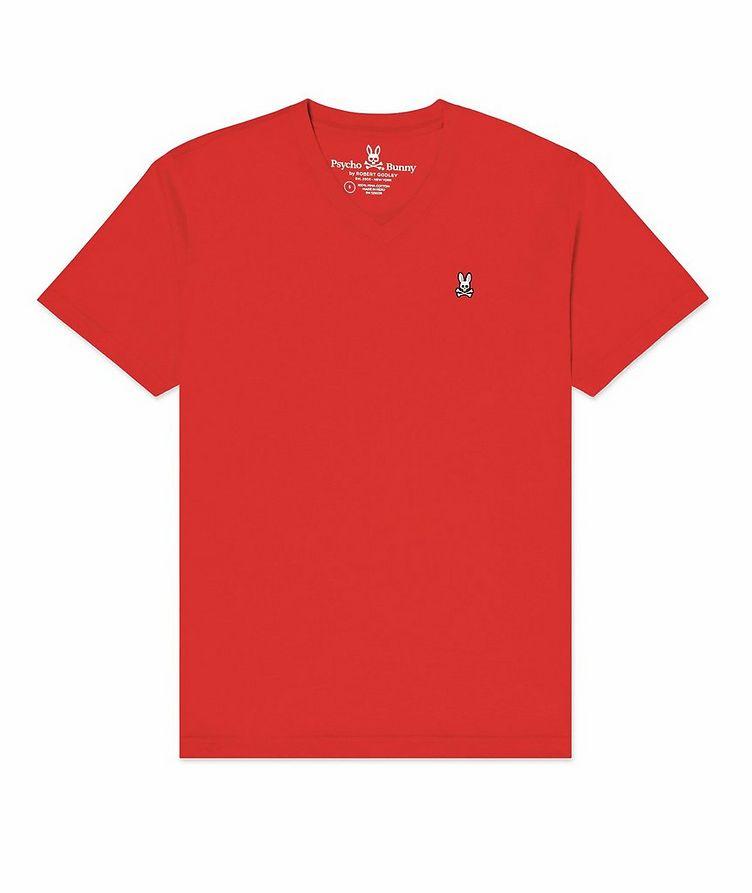 Logo Cotton V-Neck T-Shirt image 0