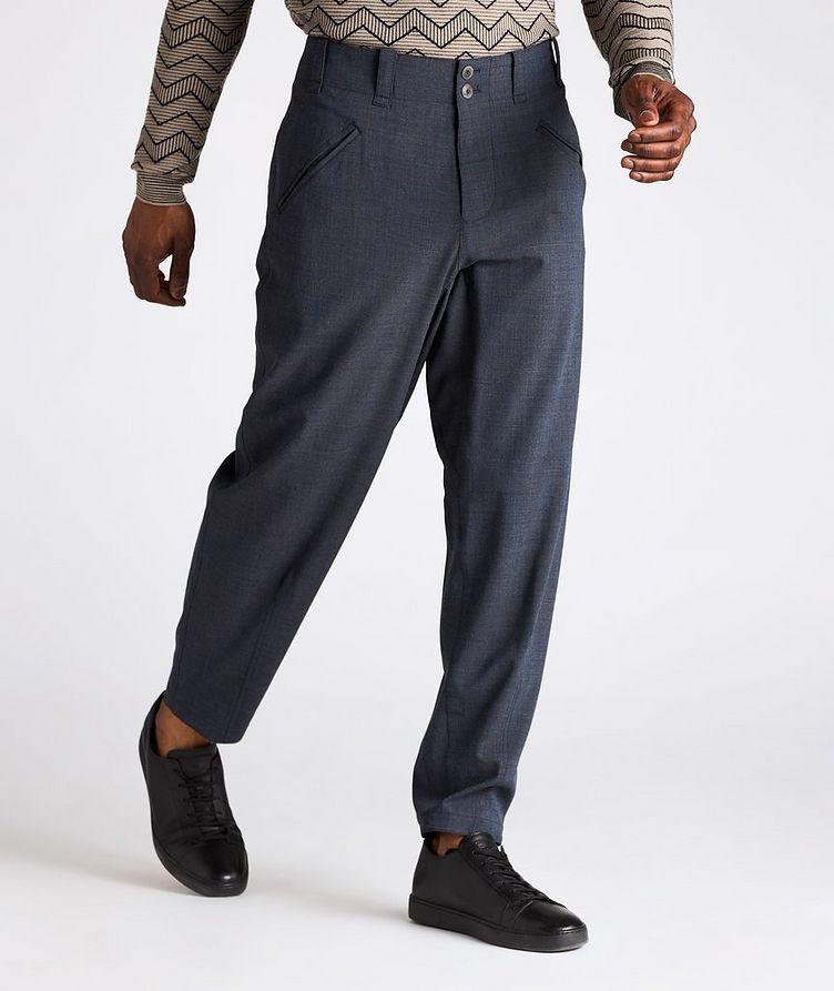 Stretch-Wool-Blend Dress Pants image 1