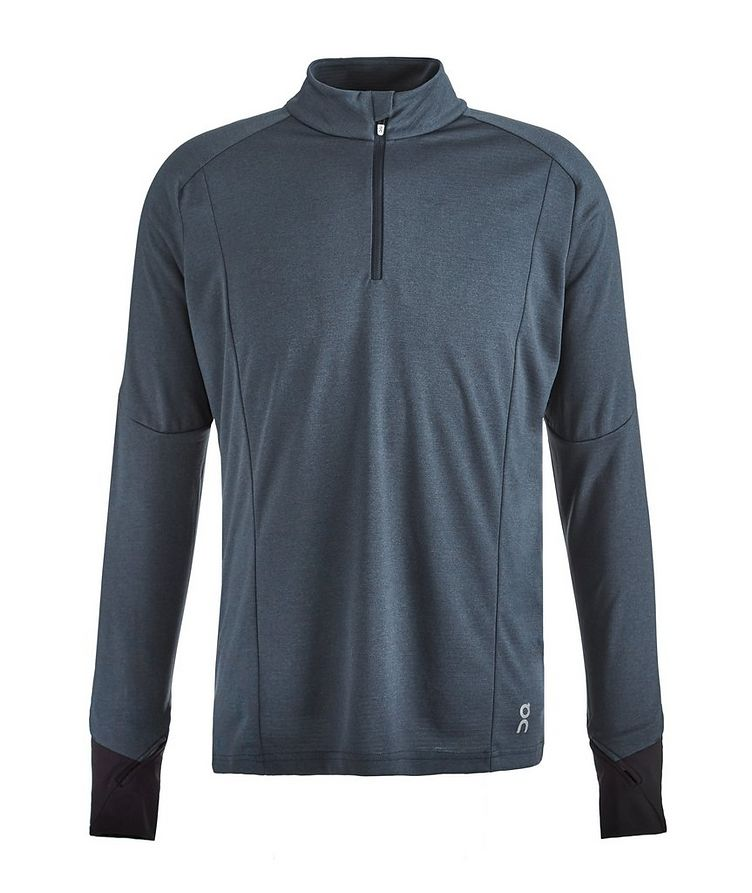 Half-Zip Long-Sleeve Performance T-Shirt image 0