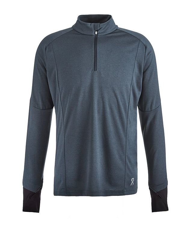 Half-Zip Long-Sleeve Performance T-Shirt picture 1