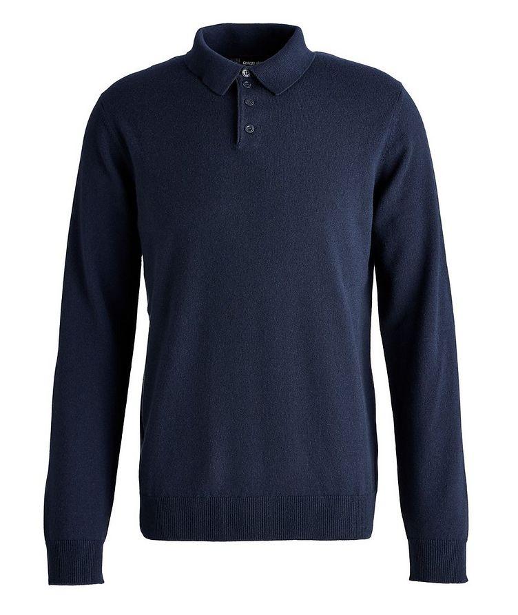Long-Sleeve Cashmere Polo image 0