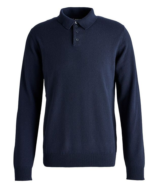 Long-Sleeve Cashmere Polo picture 1