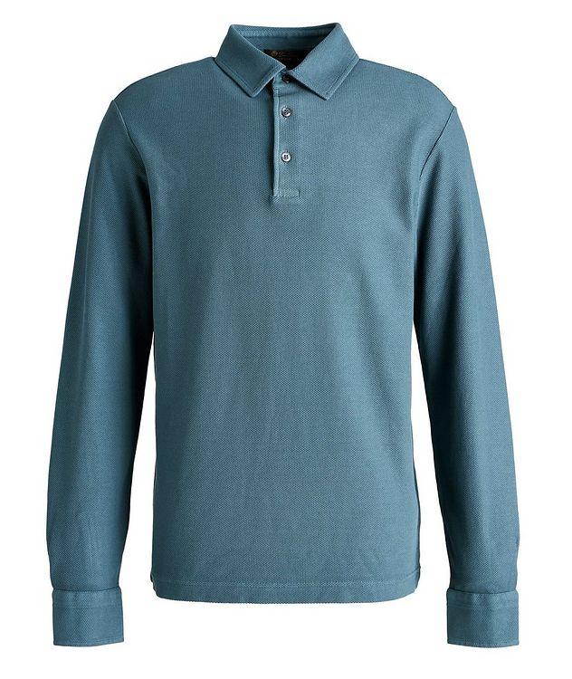 Long-Sleeve Cotton Piqué Polo picture 1