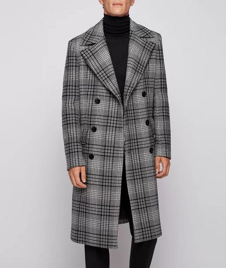 Double Breasted Checked Overcoat image 1