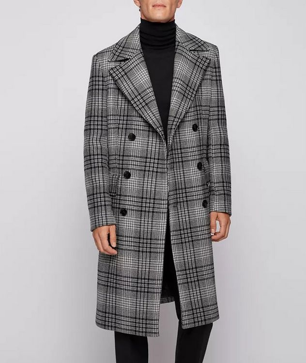 Double Breasted Checked Overcoat picture 2